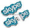 Promotie pvc Gemerkte USB Stok, de Aangepaste Flits van pvc USB