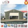 アルミニウム緑PVC格納庫のテントのヘリコプターの避難所の航空機の玄関ひさし