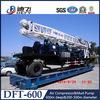 трейлер Dft-600 600m портативный установил используемую машину добра воды Borehole Drilling для сбывания