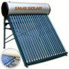 Calentador de agua caliente solar a presión acero del color