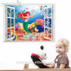 Het Niet-toxische 3D Behang van Zooyoo Weinig Decoratie van de Sticker van pvc van de Meermin voor de Zaal van de Baby