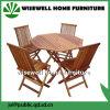 Mobília ao ar livre de madeira do eucalipto com tabela e cadeiras