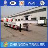 3 Vrachtwagen van de Aanhangwagen van Lowbed van assen de Semi, de Vrachtwagen van de Aanhangwagen Lowboy