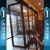 Puerta de aluminio del resorte con el vidrio Tempered