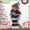 Ornement de Noël de garçon de Noël de résine de Diriger-Vente d'usine (NF14235-2)