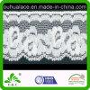 Dye White Elastic Lace FabricへのローズPattern Ready