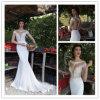 Сексуальное платье венчания сатинировки Mermaid Tulle Applique (WD002)
