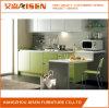 Armadio da cucina di vetro popolare di disegno Handless alto, mobilia domestica della cucina