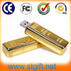 Gold dourado Bar Business Gifts para USB Flash Drive Memory do OEM do USB Disk de Logo de Client