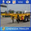 35 toneladas 2 Axle los 20ft Chasis Container Trailer Skeletal Semi-Trailer