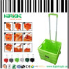 緑の折るプラスチックショッピングトロリーカート