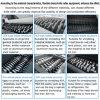 Gomma delle doppie aste cilindriche durevoli/plastica/sofà/materasso residuo/vecchia trinciatrice della mobilia