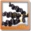 LineのインドのVirgin Hair Weft Wholesaleの緩いWeave