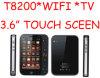 WiFi, 자바 및 이중 SIM Cardsoto 윤곽선 절단기 도형기를 가진 PhDapeng T8200 텔레비젼 이동 전화