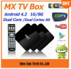 Tevê Dupla-Core Box do MX Android 4.2 Jellybean (8GB)