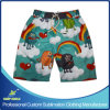 Shorts da placa da praia do Swimwear do Beachwear do menino personalizado costume do Sublimation