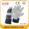 Graue volle Palmen-Rindleder-aufgeteiltes Leder-industrielle Sicherheits-Arbeits-Handschuhe (11005)