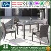 藤のセットされる柳細工の家具の庭のダイニングテーブル(TG-166)