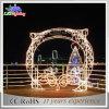 Luz 2017 de calle al aire libre decorativa del día de fiesta del arco de la Navidad LED Mottif