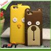 Caixa bonito do telefone de pilha do silicone do projeto do urso para o iPhone 6