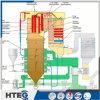 Caldeira padrão elevada do petróleo de gás da eficiência de funcionamento ASME