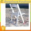 Белый стул складчатости смолаы для венчания и гостиницы