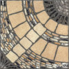 Azulejo de suelo de piedra Cobbled porcelana (42702)