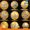 Moneda inoxidable de encargo del euro del sexo de la plata del oro de la galjanoplastia del doble del hierro
