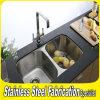 Gabinete de cozinha comercial do dissipador do aço inoxidável da parte superior 304