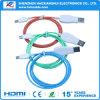 Cable vendedor caliente del USB LED de Mirco para los teléfonos móviles