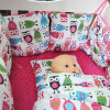sistema suave estupendo del lecho del bebé de Minky de la impresión 9PCS-Set