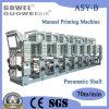 Matériel d'impression automatique de rotogravure de Shaftless pour la feuille de plastique (axe pneumatique)