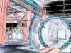 قطب [3.658م] زجاج محمّ موصد أداة