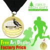 En alliage de zinc adapté aux besoins du client pour la médaille de course de marathon avec le ruban sublimé