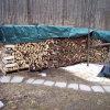 Couverture de bâche de protection de PE de bois de chauffage de prix bas