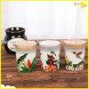Reizend duftende Sojabohnenöl-Glas-Kerze mit hölzerner Kappe