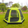 Im Freien doppelte Schicht-grosses Zelt, Full Auto-kampierendes Zelt der Personen-3-4, teleskopische Aluminiumrod-Zelte