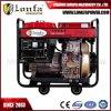 6.5kVA draagbare Vierkante Diesel van het Type van Kar van het Frame Open Generator