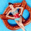 Ponton-Vorstand schwimmt Bett-Luftmatraze-aufblasbaren Brot-Schwimmen-Ring