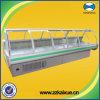 tienda de delicatessen Refrigerator de los 3.75m Air Cooling Curved Glass