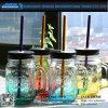 Bottiglia di vetro del fornitore del vaso di muratore con la maniglia