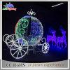 Indicatore luminoso esterno infiammante della renna di natale della decorazione di festa grande