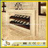 Parede de mármore bege natural que contorna para a decoração interior