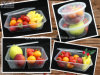 Micrôonda Food Container Storage, Food Container, Disposable Plastic Food Container com Lid