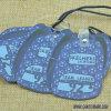 Etiqueta impresa papel azul 228 de la caída del diseño de la manera del fondo