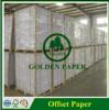 Papel Offset branco de papel sem revestimento de papel bond de Woodfree no rolo/folha