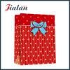 Rote Punkt-Wholesales kundenspezifischer Farbband-Bogen Papierkleidung-Einkaufstasche