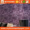 Vinyle romantique de PVC d'abstrait Wallcovering lavable avec le prix bon marché