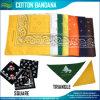 卸し売り価格設定によってカスタマイズされる従来のペーズリーの印刷の正方形の綿のバンダナ
