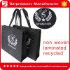 Hoogste het Winkelen Quanlity Zwarte Gerecycleerde Geweven Fodable Zak